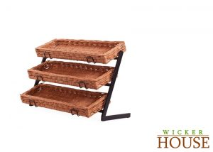 Wicker Baskets Counter Stand